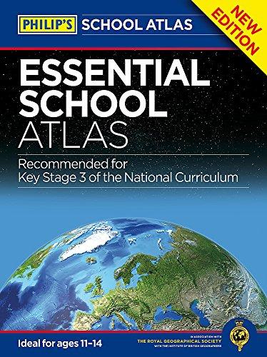 Philip's Essential School Atlas (World Atlas) por Philip's Maps