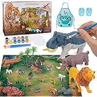 Regalo de Juguetes para niños de 3-5 años, Suministros de Manualidades y Manualidades para niños pequeños Niños niñas de 4-8 años Figuras de Animales Kit de Pintura de Juguete para niños Edad 6 7 8 9