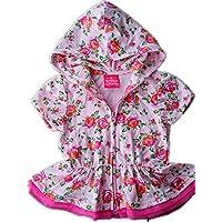 Fragole Bambina Vestito con cerniera e cappuccio, motivo floreale