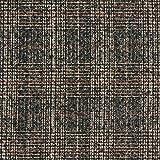 Fabulous Fabrics Mantelstoff Karo – Schwarzbraun —