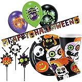 4 Halloween Teller 23 cm Partygeschirr Kinder Speiseteller Partyteller Essteller