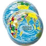 Lively Moments Spielball/Fußball/Ball/Wasserball/Strandball Weltkugel/Globus ca. 23 cm Weltkarte