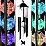 Energia solare luce LED cambia colore con decorazioni da giardino in metallo a vento Shopmonk