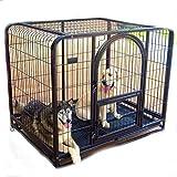 SL&ZX Haustier Hund Käfig,Klappbarer Metall hundebox Große Hund Goldene kiste Hoher Hund laufstall Haustier Einzeltür-Home-Training-kiste Indoor Outdoor-Zelt-Zaun-Blau 125x95x110cm(49x37x43inch)