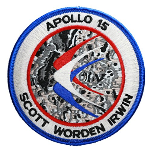 Apollo 15 Mission Embroidered Patch (Official Patch) (10cm Dia) approx