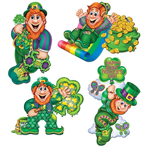 Irische Leprechaun Figuren 4er Set