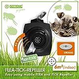 ISOTRONIC Zeckenschutz für Hund Katze Stark als Flohabwehr Ultraschall Flohmittel Schutz von Mensch Haustier vor Floh Zecke Ohne Chemie mit austauschbarer Batterie