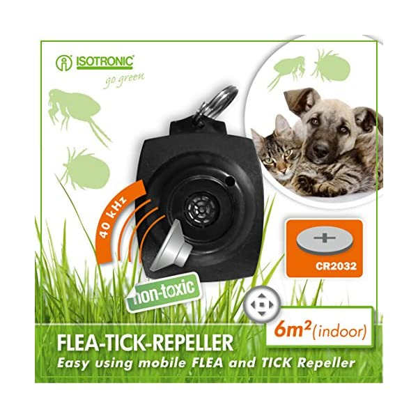 ISOTRONIC Tick Free No Chemical Ultrasonic Tick & Flea Repellant repeller 2