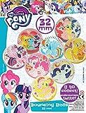 MVS ALL'INGROSSO Confezione da 10 Casuali My Little Pony 32mm Hi Bounce/Bouncy/Jet Balls, ideale per le ragazze Party Filler/Riempimento o premi Pinata
