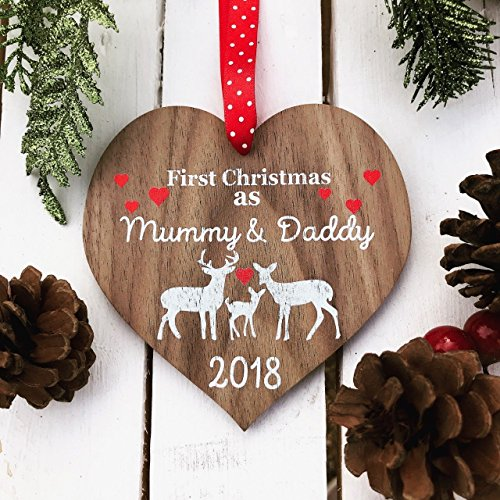 First Christmas As Mummy and Daddy decoration First 1st Christmas BAUBLE First 1st Christmas Ornament