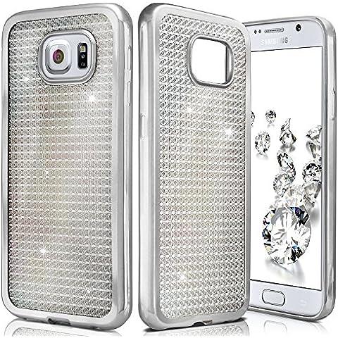 Shiny Case para Samsung Galaxy S6 | Funda de silicona transparente con efecto metálico y brillo de nuevo | Protección de celda fina bolsa de OneFlow | Backcover en