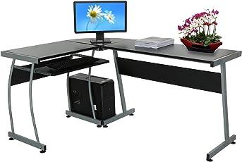 Attraktiv Modrine Computertisch Beweglicher PC Tisch Schreibtisch Mit Keyboardständer  Und Rolle Für Hause Und Bürosarbeit