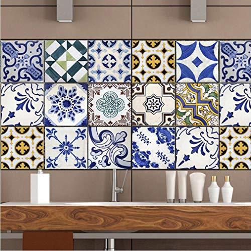 JY ART Estilo Mediterráneo Pegatinas de Azulejos Vintage Nuevas Pegatinas de Pared...