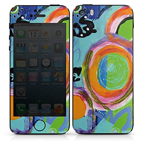 Apple iPhone SE Case Skin Sticker aus Vinyl-Folie Aufkleber Abstrakt Kreise Bunt DesignSkins® glänzend