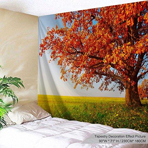 Xinyi Home Wand aufhängen Natur Polyester-Kunst-Baum Thema Szenerie, Wand Decor für Wohnheim Zimmer, Schlafzimmer, Wohnzimmer, Nagel Enthalten 90