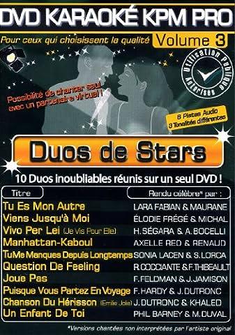 DVD Karaoké KPM Pro Vol. 03b Duos De Stars