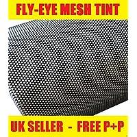 Zoom Trading Uk 60Cm X 106Cm Headlight Fly-Eye Mesh Perforated Tinting Mot Legal Self Adhesive