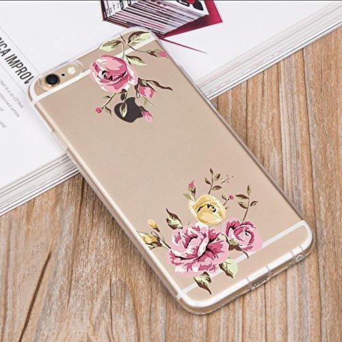 Custodia iPhone 6, Cover iPhone 6s Pacyer® Custodia Chiaro Cristallo Ultra Sottile Morbido Placcatura TPU Gel Case Cover per Apple iPhone 6/6s 4.7 (Cactus ragazza animale) 4