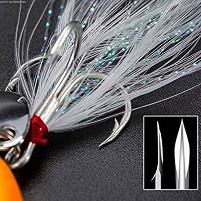 Providethebest 1/4pcs 5/9/13/18/21g Fishing Spinner Bait Fishing Lure Shine Metal Hard Lure With Feather 1pc 5g #1 by Provide The Best