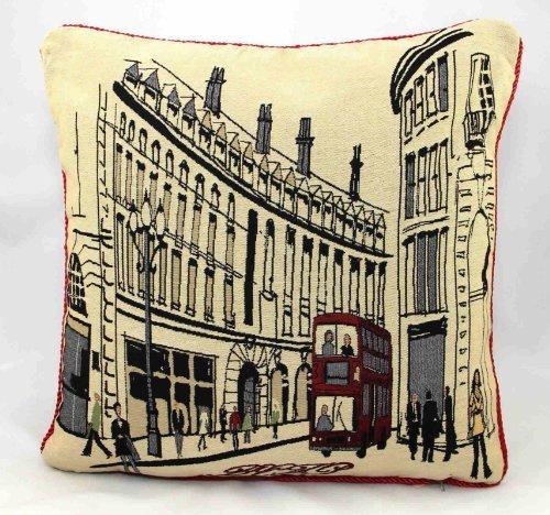 Ideal-Textiles-Kissenbezug-Retro-Stil-Motiv-Regent-Street-London-45-x-45-cm-cremefarben