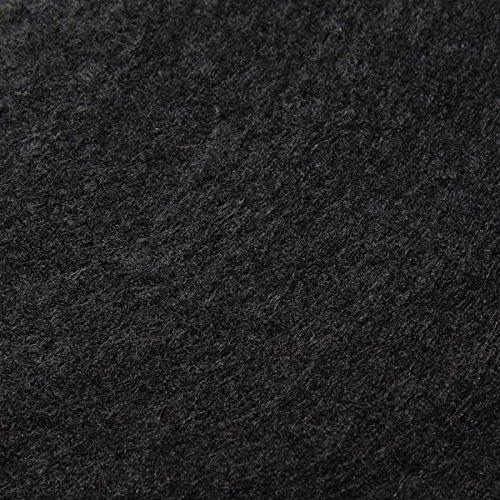 Stoff Polyester Filz schwarz 3 mm dick Bastelfilz 150 cm breit waschbar
