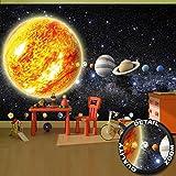 great-art Fototapete Sonnensystem Planeten Wandbild Dekoration Galaxie Cosmos Space Universum All Sky Sterne Galaxy Weltraum Earth | Foto-Tapete Wandtapete Fotoposter Wanddeko by (336 x 238 cm)