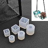 SODIAL 6Pcs Moule rond carre en silicone Moule de Resine pour la fabrication de bracelet de bijoux pendentif Outil de bricolage artisanal