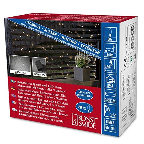 Konstsmide, Rete luminosa a LED con sesnsore e timer da 6 e 9 ore, da esterni