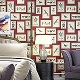 Thatch US-amerikanischer Country Bilderrahmen Tapeten Schlafzimmer TV Hintergrund Blume dekorativen Eingang von England wallpaper , 1