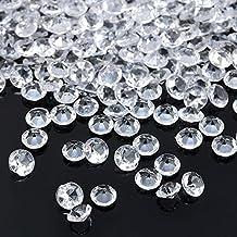 56b1da25bc9d4 Gezichta 2000 pcs Couleur acrylique faux diamant rond Cristaux au trésor  Gems pour table ED,