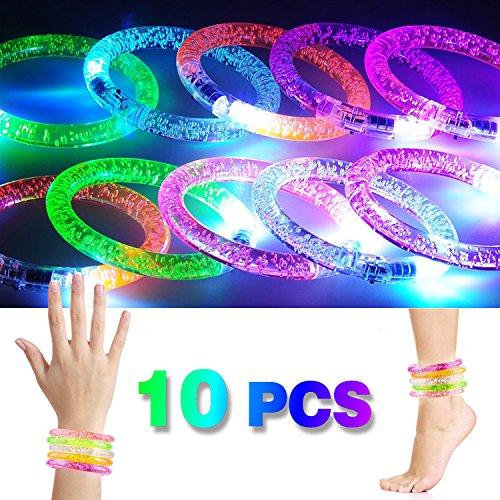mband, Leuchtender Armschmuck Leuchtarmband Blinkend Glänzend für Party Radsport Club Disco Joggen KTV Konzert Spielzeug ()