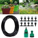 Bewässerungssystem, ikalula Drip Bewässerung Kit mit Spray Self Watering Kits für Garten Landschaft Flower Bed Terrasse Pflanzen.