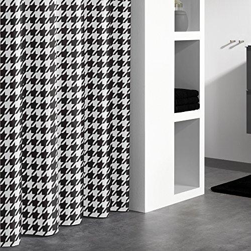 Sealskin 235271319 Textil Duschvorhang Seamless, B x H: 180 x 200 cm (Hahnentritt-bad)