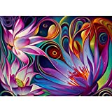 DIY 5D Diamond Painting, Full Drill Crystal Rhinestone Diamond Embroidery Paintings Pictures Arts Craft for Home Wall Decor Lotus Helix Dream 11.8 X 15.7 Inch