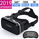HD VR Headset with Remote Controller,3D Glasses Virtual Reality Headset for VR Games & 3D Movies, VR Headset for iPhone & And
