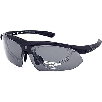 3b1b6861df5 Xtreme Plus Large Black Polarised Sunglasses Goggles for Men Fishing Kayaking  Canoeing Snow Boarding Cycling Skiing Driving Bicycling Running Wrap Around  ...