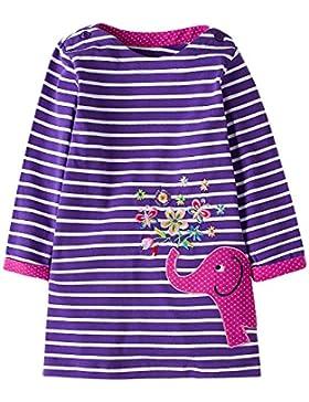 Kaily Mädchen Baumwolle Langarm Casual Cartoon Stickerei Kleid