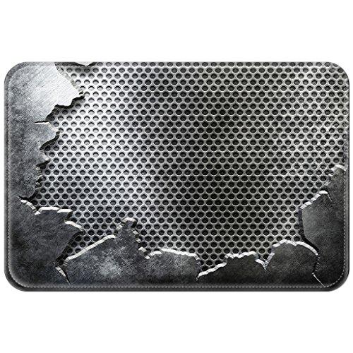 Violetpos Fußmatte Metall Hintergrund Fußmatten Mat für Innen & Außen 45 x 75 cm
