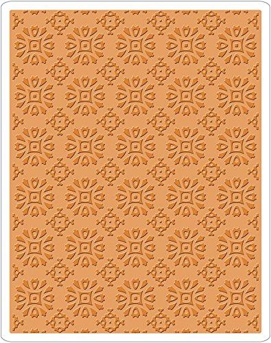 Sizzix Texture Fades Prägeschablone-Rosettenmuster von Tim Holtz, Plastik, Mehrfarbig, 17.5 x 12.4 x 0.5 cm -