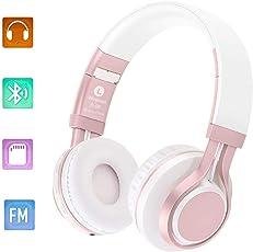 BhdLovely Bluetooth Kopfhörer Over Ear, 4.0 Noise Cancelling Bluetooth Headphones 4 in 1 Hallo-Fi Stereo Wireless Headset mit Mikrofon Mic/FM / TF Karte/AUX für PC TV Smart Phones & Tablets