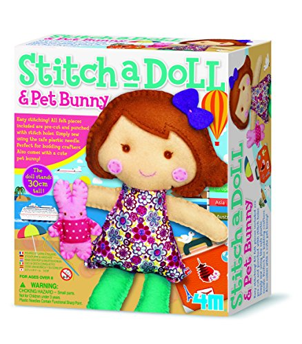Great Gizmos 4M Stitch a Doll Go Travelling with Pet Bunny Sewing (Kit Bunny)