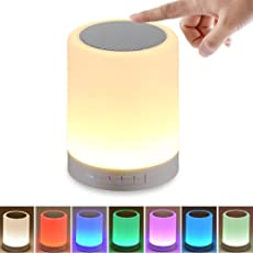 Aeylight Wireless Portable Bluetooth Speaker with Smart Touch Led Mood Lamp, SD Card Slot/AUX Input and Microphone to Connect Calls