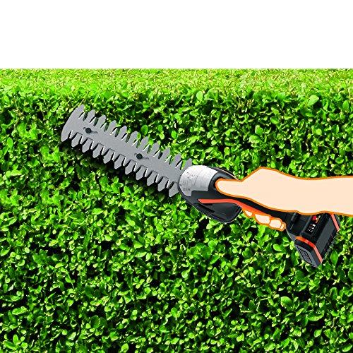 Worx 20V Gras- und Strauchschere WG801E mit Akku und Ladegerät, inkl. 3 Verschiedene Messer