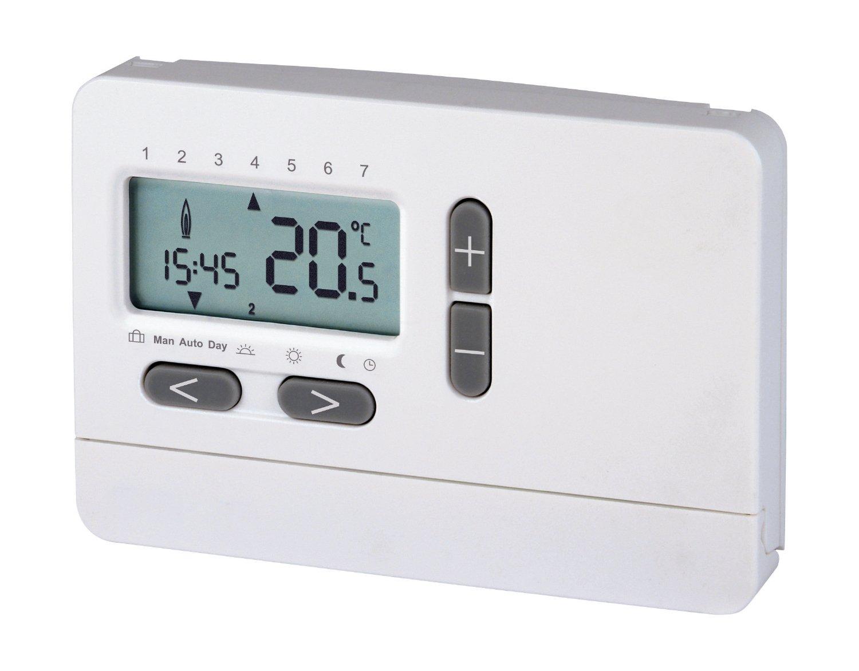 Fantastisch 2-Draht-Uhrenthermostat Digital | Raum-Temperaturregelung | LCD  AF64