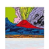 Quadro Moderno Vesuvius Andy Warhol - Stile Pop Art Tela Canvas Telaio in Legno – Colorscrazy