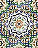 Nadia - Marokkanische Fliesen, Bemalt Bunt Kunst Design Arabisch Rustikal Fliesen, 1 m2