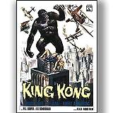 King Kong Film Film Poster Vintage Retro-Stil Leinwand Wand Kunstdruck Bild groß Klein