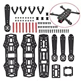 T&R Kit Marco De Quadcopter De La Fibra De Mini FPV Mini Marco Quad 250mm De Carbono Para QAV250 - Full Carbon Fiber FPV Mini Race Quadcopter Drone Frame Kit for QAV250