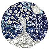Round Diamant Male Elegante Mode Pfau Diamant Bild Malerei Kreuzstich Strass Einggefügt DIY Wandgestaltung für Zuhause Festliche Geschenk Voller Diamant Anstrich 36 x 36 cm