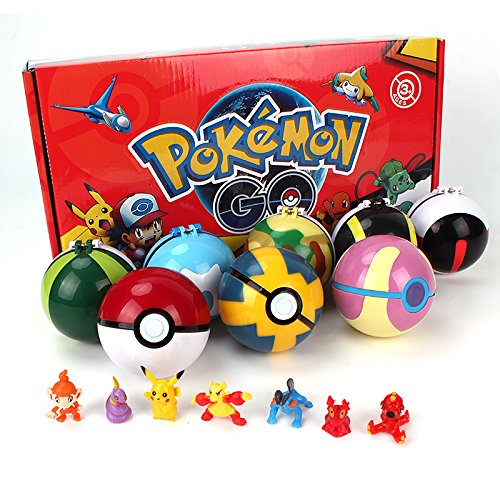8-X-Pokemon-Mini-Figuren-Pokeball-Plastik-Pop-up-Master-Ultra-GS-Cosplay-Pikachu-Ball
